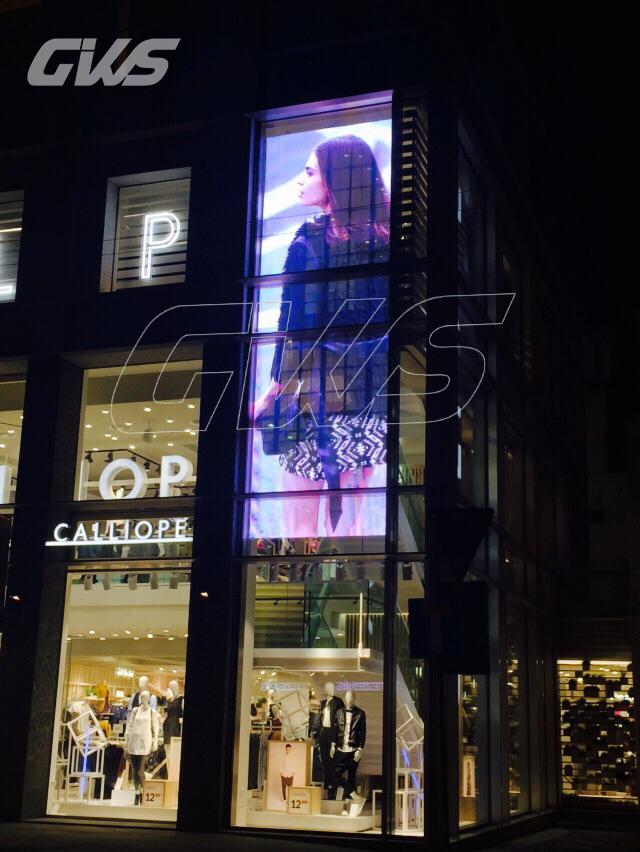 意大利透明屏意大利Terranova及Calliope品牌旗舰店透明LED显示屏项目_透明LED显示屏|玻璃幕墙LED显示屏|玻璃LED显示屏 |led玻璃幕墙屏|led幕墙屏--深圳LED显示屏厂晶泓科技
